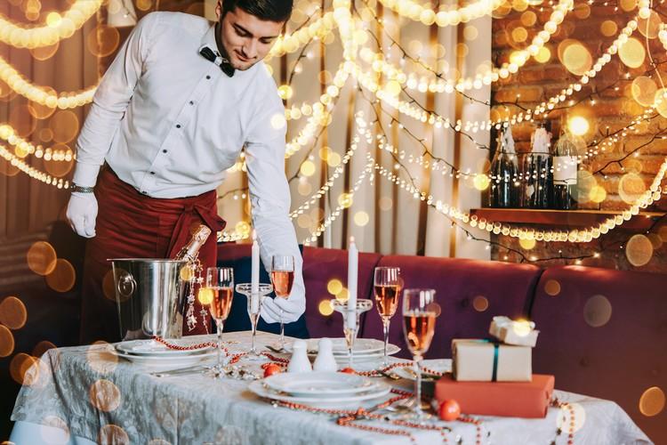 Restaurant en période de Noël